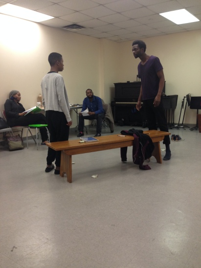 Jovan Davis & Sheyenne Javonne Brown in rehearsal Black Revolutionary Theatre Workshop